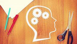 Psychology of human thinking. Abstract conceptual image